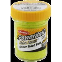 Glitter trout bait chartreuse