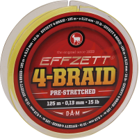 Effzett 4-braid geel 125m